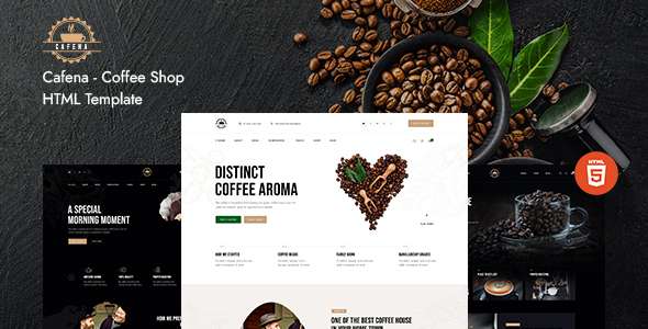 Cafena - Coffee Shop HTML5 Template TFx