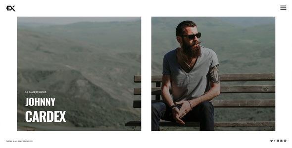 Cardex - One Page Portfolio Template TFx