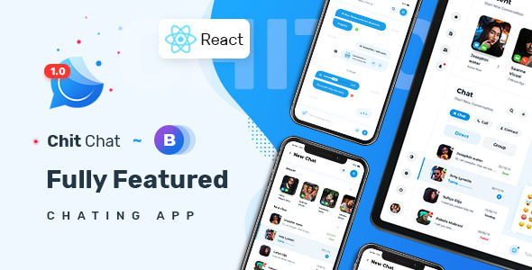 Chitchat – Perfect Chat and Discussion React JS Template TFx