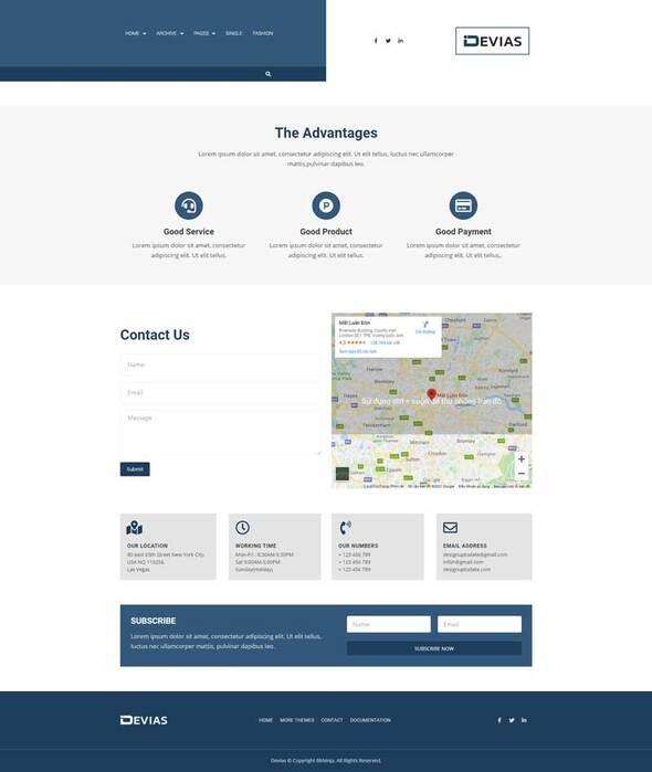 Devias - Blog amp Magazine Elementor Template Kit TFx