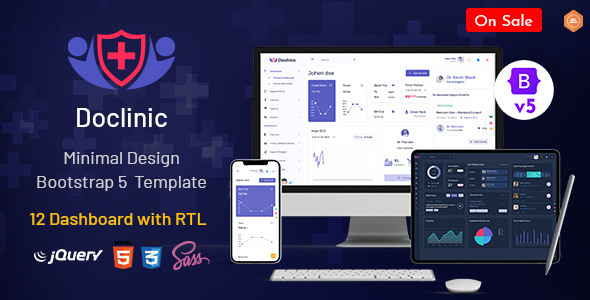 Doclinic – Medical Responsive Bootstrap Admin Dashboard TFx