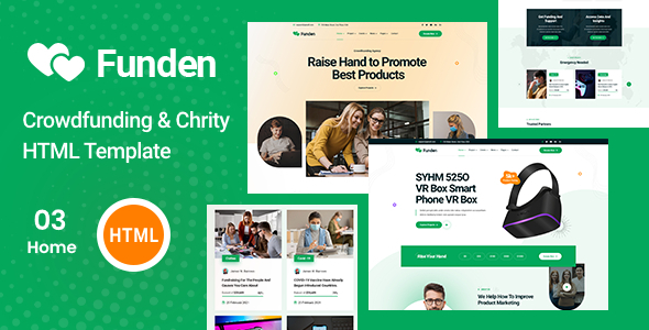 Funden – Crowdfunding amp Charity HTML5 Template TFx