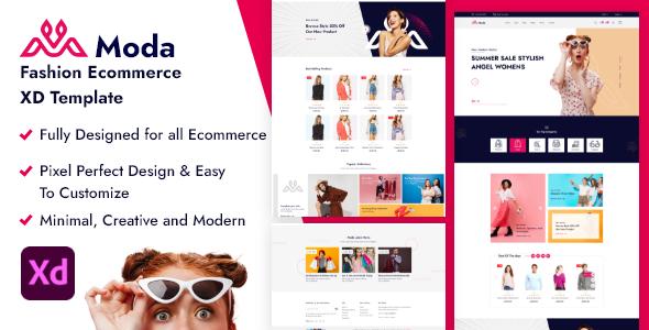 Moda - Fashion Ecommerce XD Template TFx