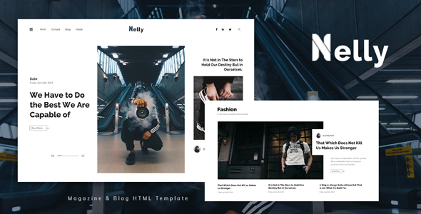 Nelly - Blog and Magazine HTML Template TFx