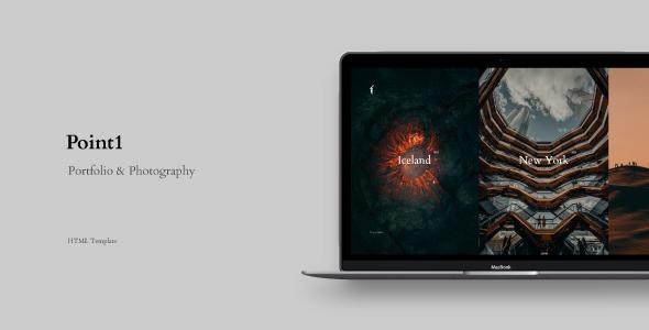 Point1 - Creative Portfolio amp Photography Template TFx