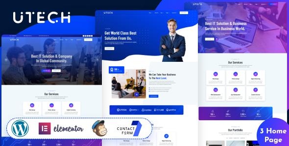 uTech – IT Solution And Technology WordPress Theme TFx