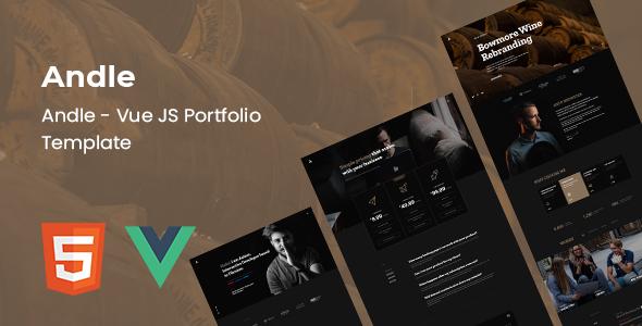 Andle - Vue JS Portfolio Template TFx SiteTemplates