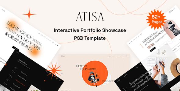 Atisa - Interactive Portfolio Showcase PSD Template TFx