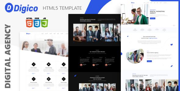 Digico  Digital agencies HTML5 Template TFx