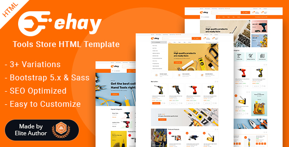 Ehay - Tools Store eCommerce HTML Template TFx