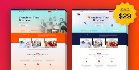 MarLab  Digital Solutions WordPress Theme TFx