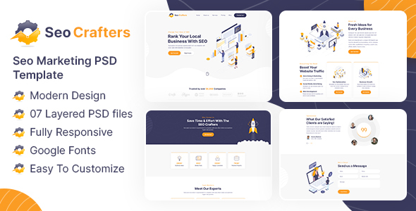 SEO Crafters Marketing PSD Template TFx
