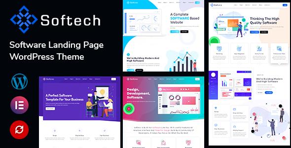 Softech - Software amp Landing Page WordPress Theme TFx