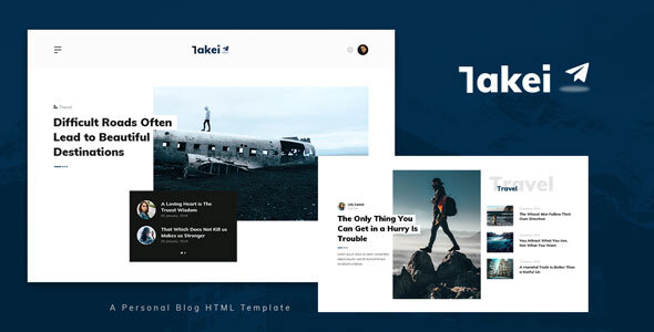 Takei - Blog and Magazine HTML Template TFx