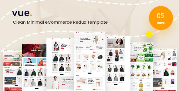 Vue - Clean Minimal eCommerce Redux Template TFx