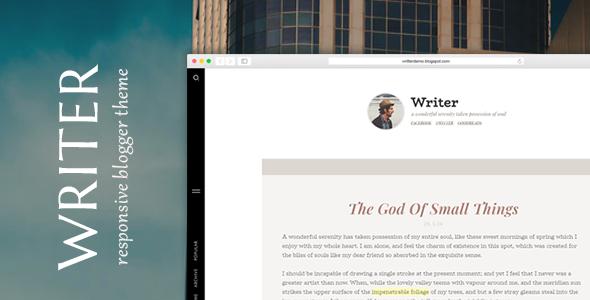 Writer - Minimal Personal Blogger Theme TFx